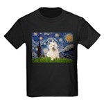 Starry Night/Westie Kids Dark T-Shirt