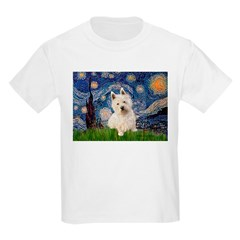 Starry Night/Westie Kids Light T-Shirt
