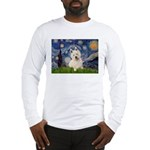 Starry Night/Westie Long Sleeve T-Shirt