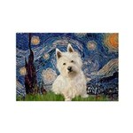 Starry Night/Westie Rectangle Magnet (10 pack)