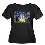 Starry Night/Westie Women's Plus Size Scoop Neck D