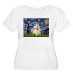 Starry Night/Westie T-Shirt
