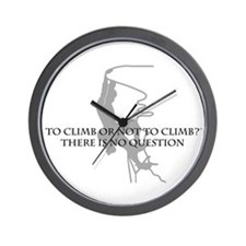 To Climb Or Not To Climb Wall Clock
