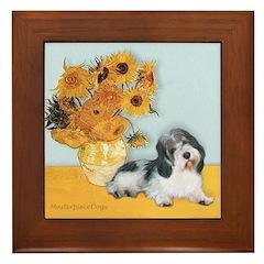 Sunflowers/PBGV Framed Tile