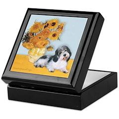 Sunflowers/PBGV Keepsake Box