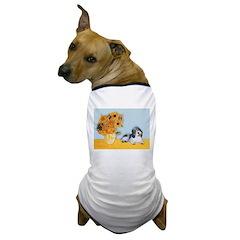 Sunflowers/PBGV Dog T-Shirt