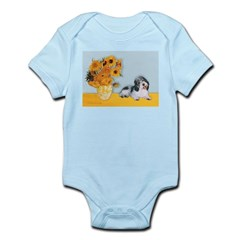 Sunflowers/PBGV Infant Bodysuit