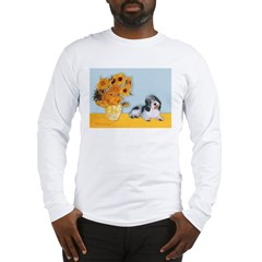 Sunflowers/PBGV Long Sleeve T-Shirt