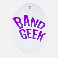 Band Geek Oval Ornament