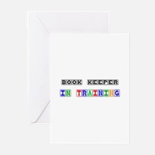 Book Keeper In Training Greeting Cards (Pk of 10)