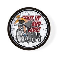 Shut Up and Ride Bike Wall Clock