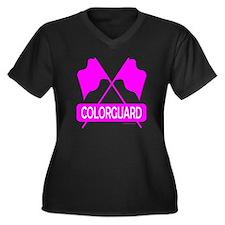 COLORGUARD Women's Plus Size V-Neck Dark T-Shirt
