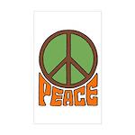 Peace Sign Rectangle Sticker