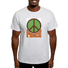 Peace Sign Ash Grey T-Shirt