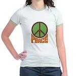 Peace Sign Jr. Ringer T-shirt
