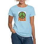 Peace Sign Women's Pink T-Shirt