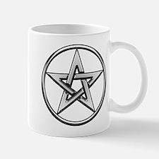 Silver Circle Pentagram Mug