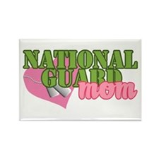 Cute National guard mom Rectangle Magnet
