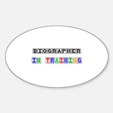 Biographer In Training Oval Decal