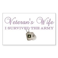 I Survived The Army Rectangle Decal