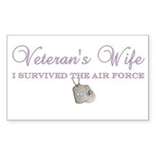 I Survived The Air Force Rectangle Decal