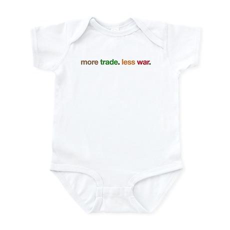 More Trade, Less War Infant Bodysuit