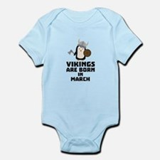 Vikings are born in March Cy9g3 Body Suit