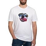 BOSTON TERRIER YO DAWG SUNGLASSES Fitted T-Shirt
