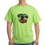 BOSTON TERRIER YO DAWG SUNGLASSES Green T-Shirt