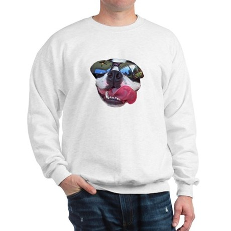 BOSTON TERRIER YO DAWG SUNGLASSES Sweatshirt