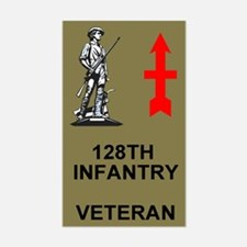 128th Infantry <BR>Veteran Decal