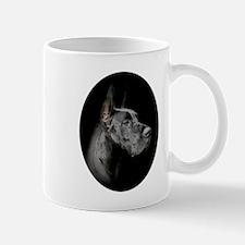 Oval Black Great Dane Portrait Mug