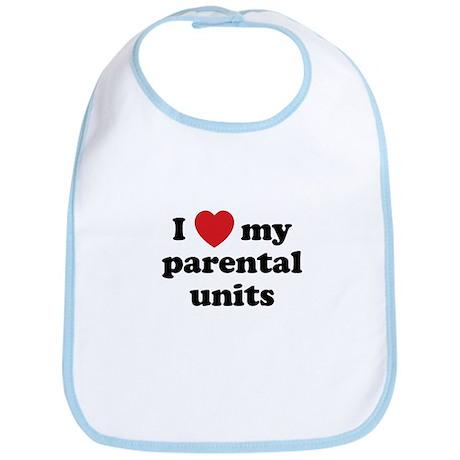 I Heart My Parental Units Bib