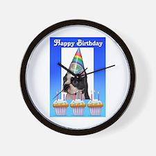 HAPPY BIRTHDAY DOG Wall Clock