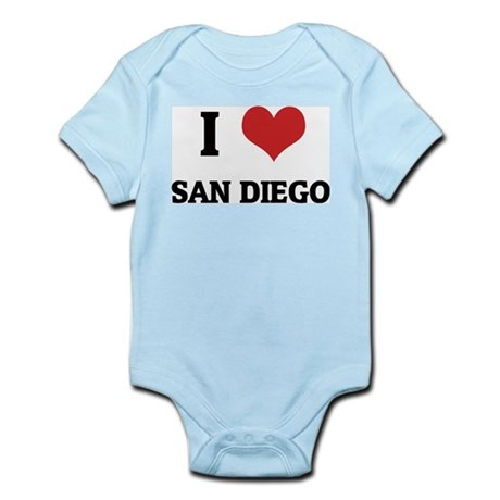 I Love San Diego Infant Creeper