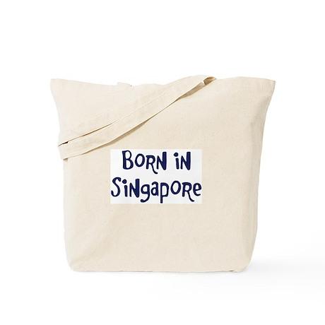 Born in Singapore Tote Bag
