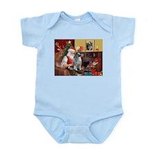 Santa/Keeshond Infant Bodysuit