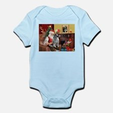 Santa/Keeshond Infant Bodysuit