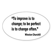 Churchill Perfect Change Quote Oval Decal