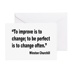 Churchill Perfect Change Quote Greeting Card