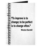 Churchill Perfect Change Quote Journal
