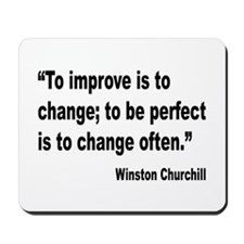 Churchill Perfect Change Quote Mousepad