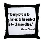 Churchill Perfect Change Quote Throw Pillow