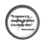 Churchill Perfect Change Quote Wall Clock