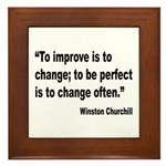Churchill Perfect Change Quote Framed Tile