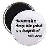 Churchill Perfect Change Quote Magnet