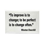 Churchill Perfect Change Quote Rectangle Magnet (1