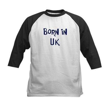 Born in Uk Kids Baseball Jersey