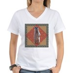 Meerkat Women's V-Neck T-Shirt