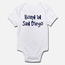 Born in San Diego Infant Bodysuit